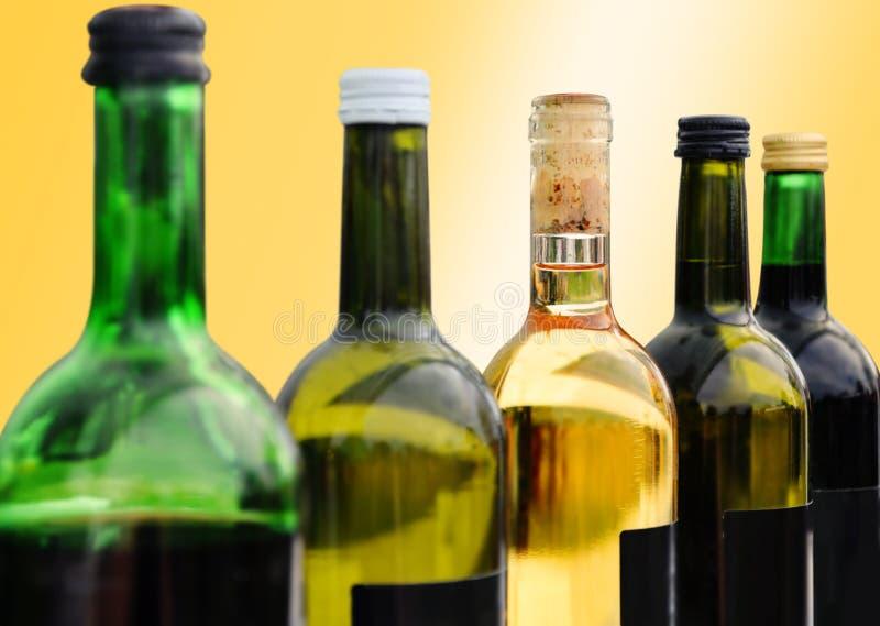 butelkuje wino zdjęcia stock
