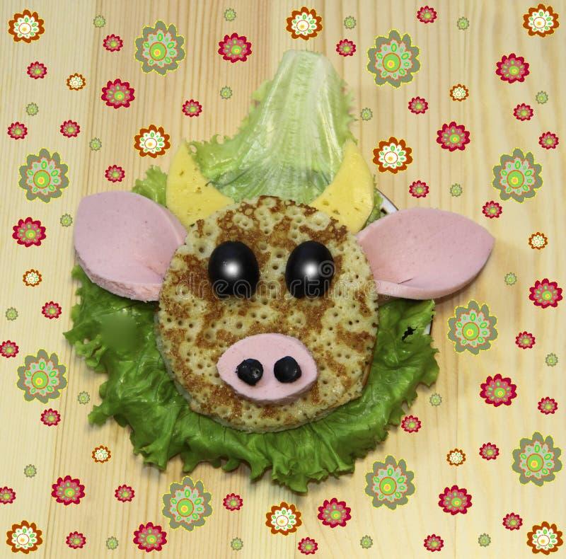 Download Buterbrod - Alimento Do Focinho Para Crianças Imagem de Stock - Imagem de cor, vaca: 29843115