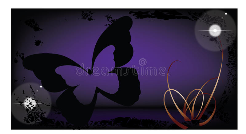 Download Buterfly On Grunge Background Stock Vector - Illustration of flora, grungy: 19846737