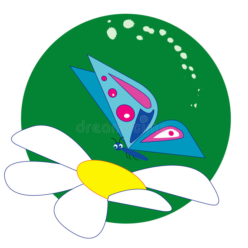 buterfly kwiat fotografia stock