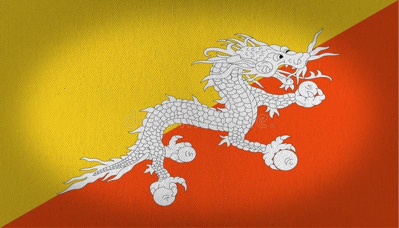 Buthan-Flagge vektor abbildung