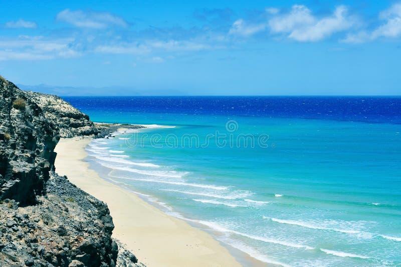 Butihondo Beach in Fuerteventura, Canary Islands, Spain. View of Butihondo Beach in Fuerteventura, Canary Islands, Spain stock photo