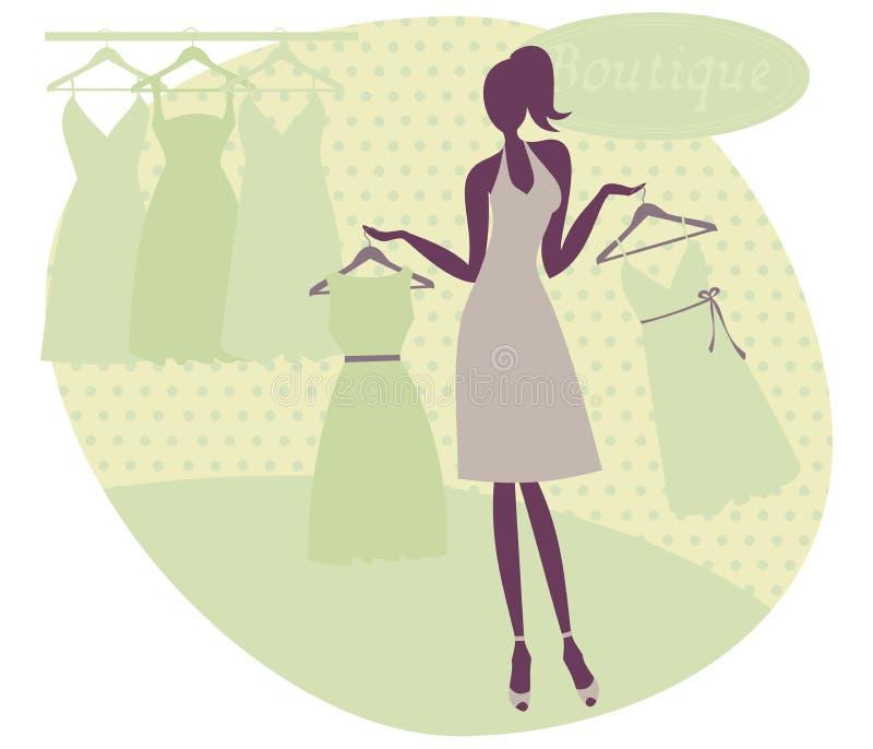 butik dziewczyna ilustracja wektor