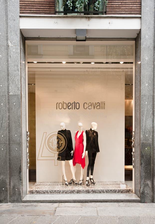 butika cavalli Italy zrobił Roberto zdjęcie stock