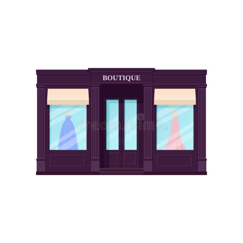 Butikenschaufenster, Shop Auch im corel abgehobenen Betrag Weinlesespeicher Franc lizenzfreie abbildung