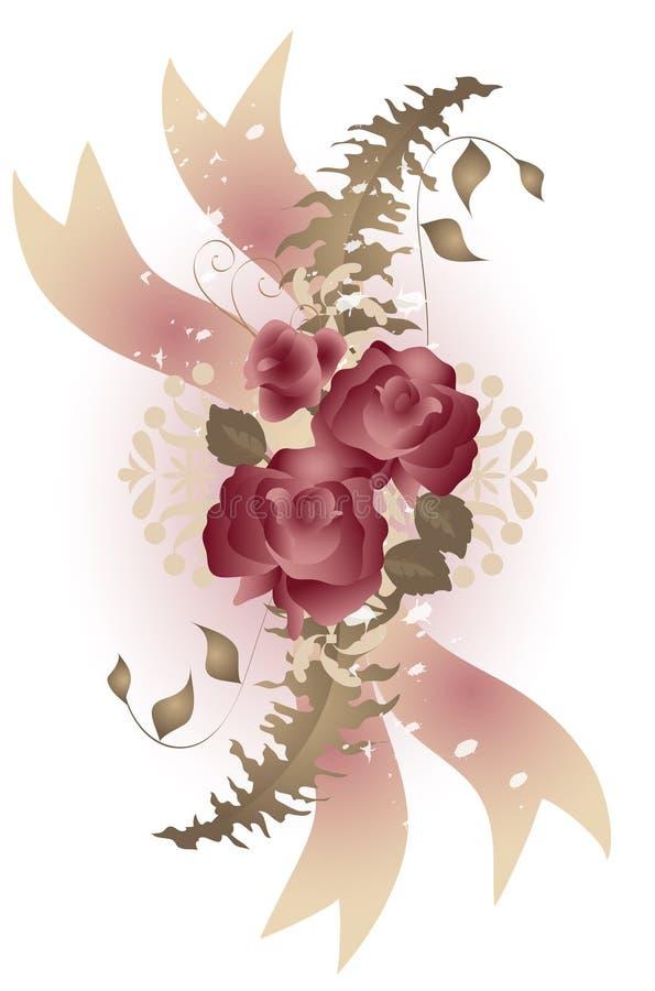 Butin de Rose de type de cru illustration stock