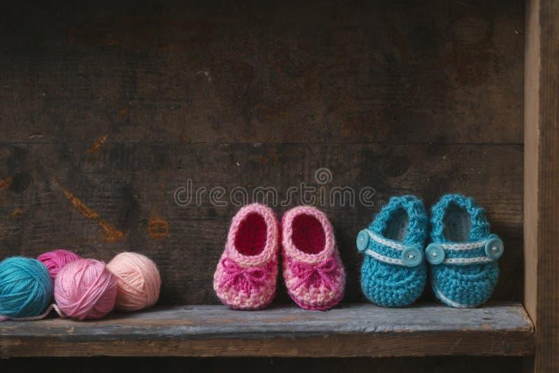 Butins de bébé de crochet image libre de droits