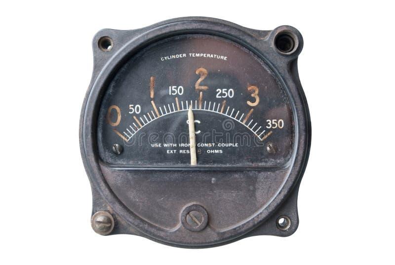butla rocznik metrowy temperaturowy obraz stock