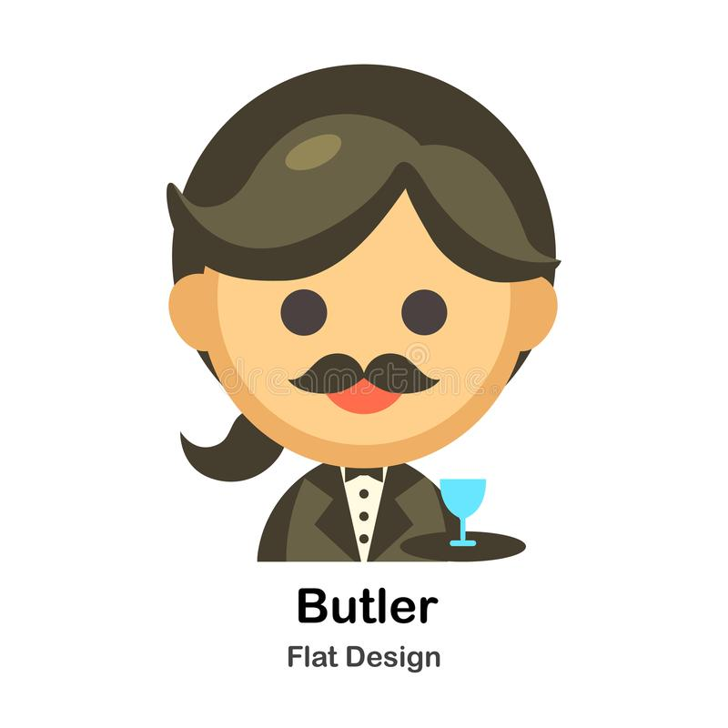 Butler Flat Illustration illustration stock