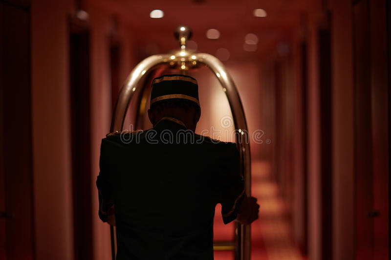 Butler in hotel royalty free stock image