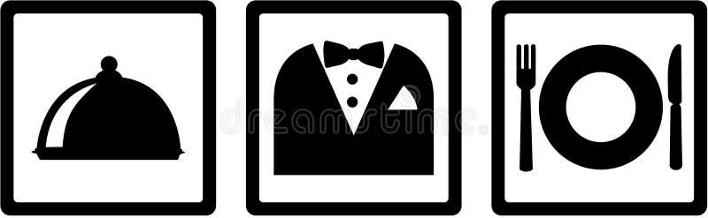 Butler-Ikonen Behälter, Klage, Geschirr lizenzfreie abbildung