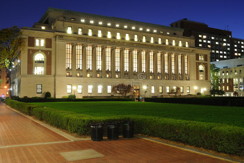 The Butler Library of Columbia University royalty free stock photos