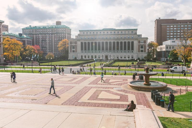 Butler library and Columbia university campus view royalty free stock photography