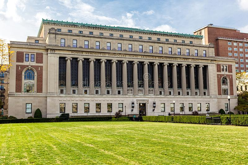 Butler library building at Columbia University, New York, USA royalty free stock photography