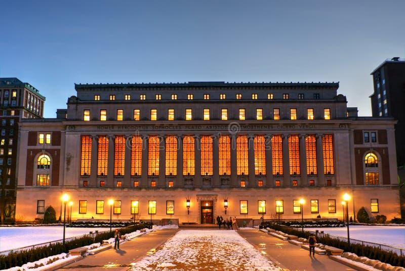 Butler Library på columbia universitet royaltyfri bild