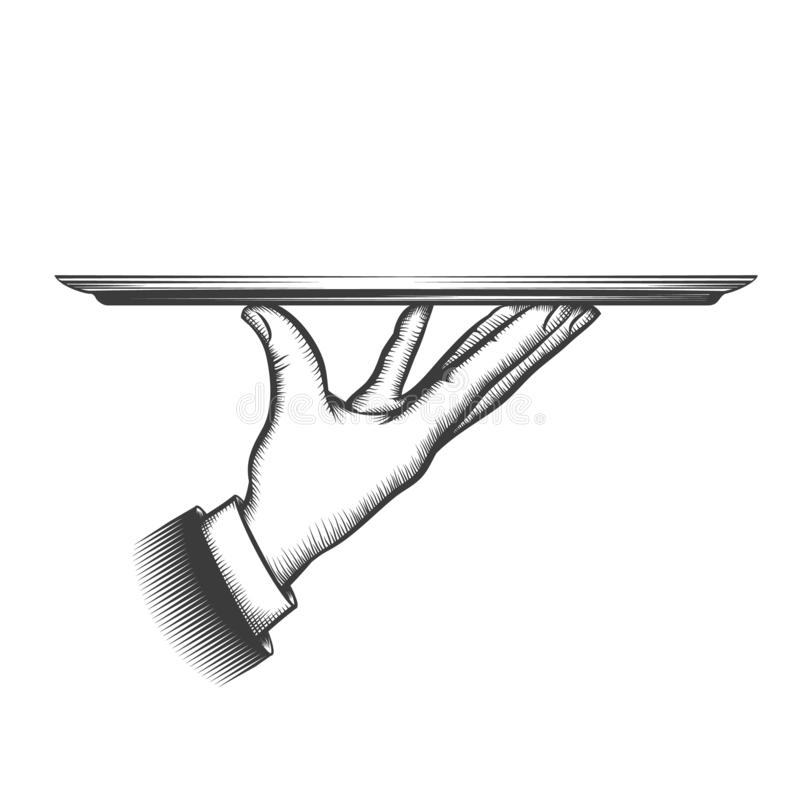 Free Butler Serving Tray Stock Photography - 150579432