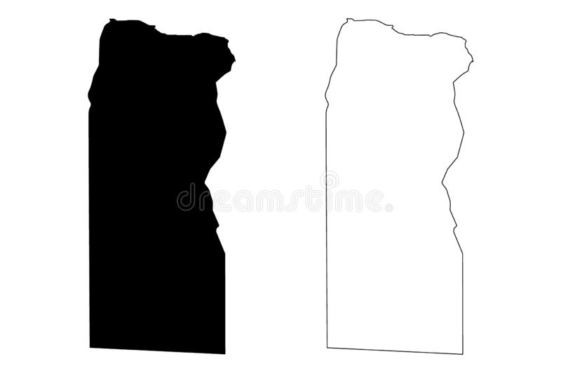 Butnan District Districts of Libya, State of Libya, Cyrenaica map vector illustration, scribble sketch Butnan map.  vector illustration