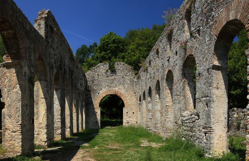 Butrint in Albania immagine stock