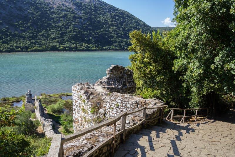 Butrint - historiac centrum który ochrania pod UNESCO jako a zdjęcia stock