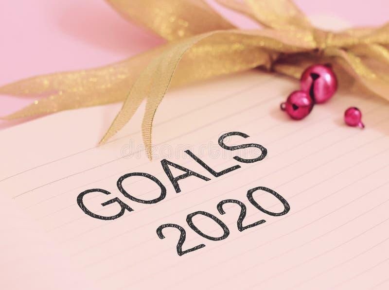 Buts 2020 avec la décoration colorée photos libres de droits