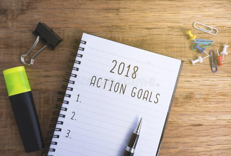 Buts 2018 d'action images libres de droits