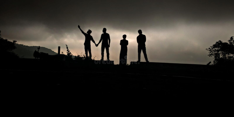 Buts d'amitié de la photographie d'ombre photographie stock libre de droits