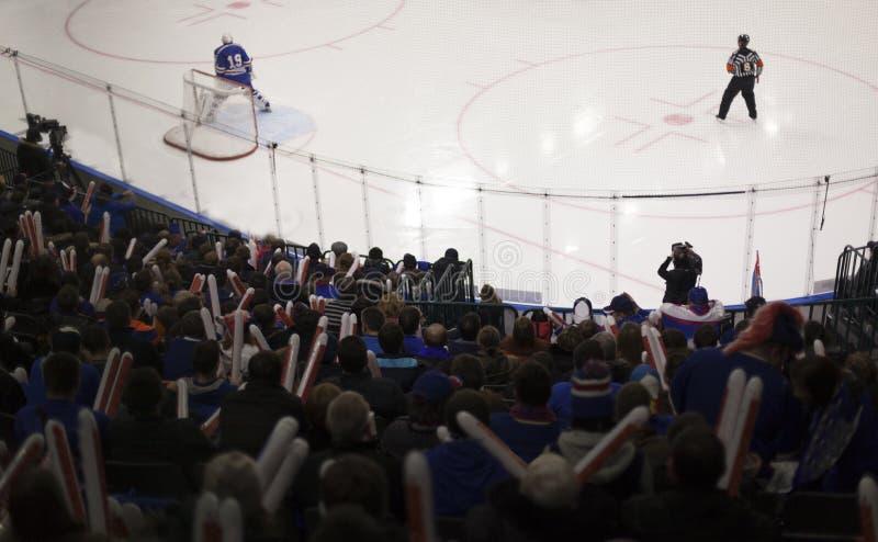 Buts d'hockey photo stock