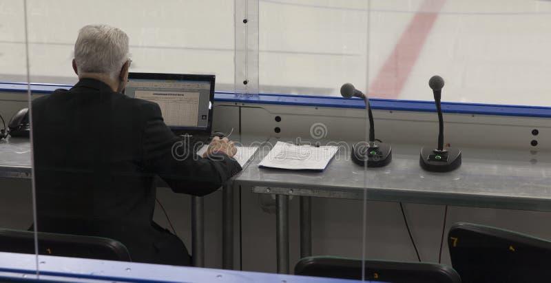 Buts d'hockey photo libre de droits