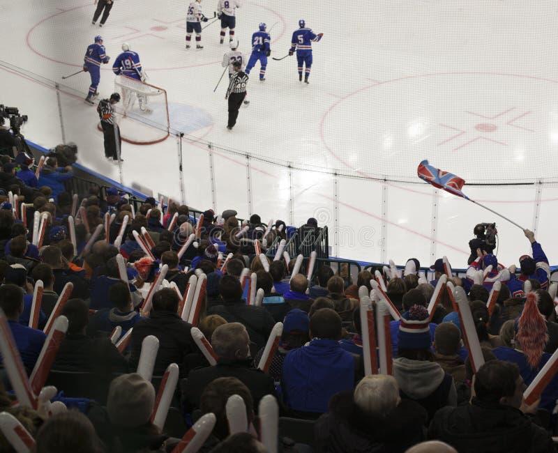 Buts d'hockey images libres de droits