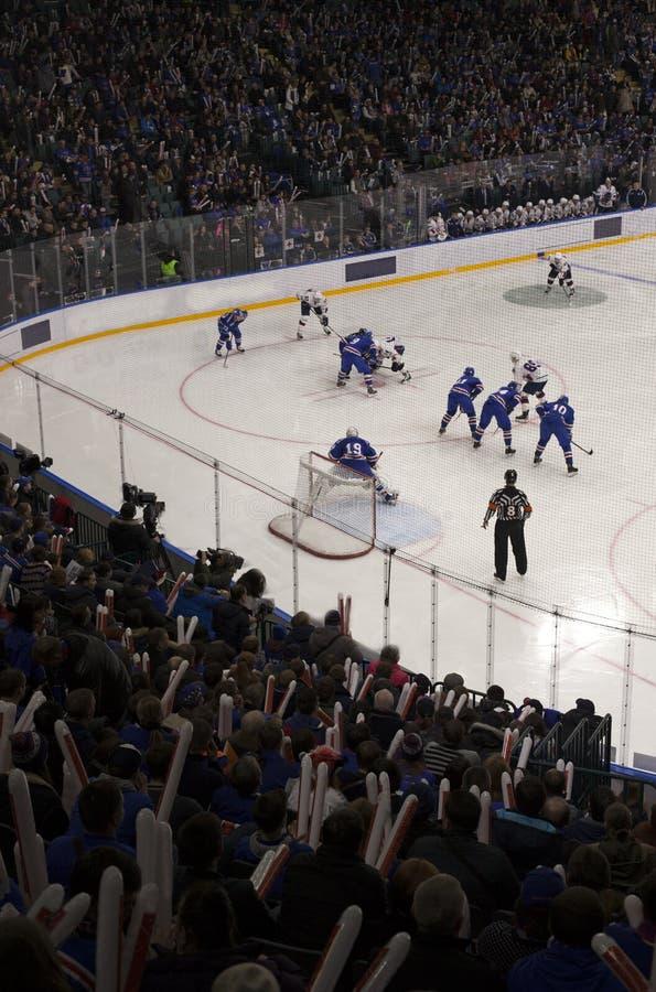 Buts d'hockey image stock
