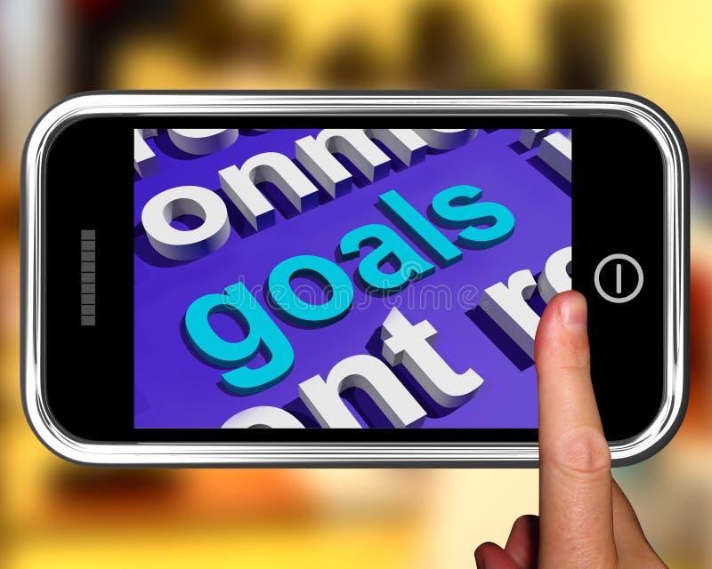 Buts dans des objectifs ou des aspirations d'objectifs d'expositions de nuage de Word illustration de vecteur