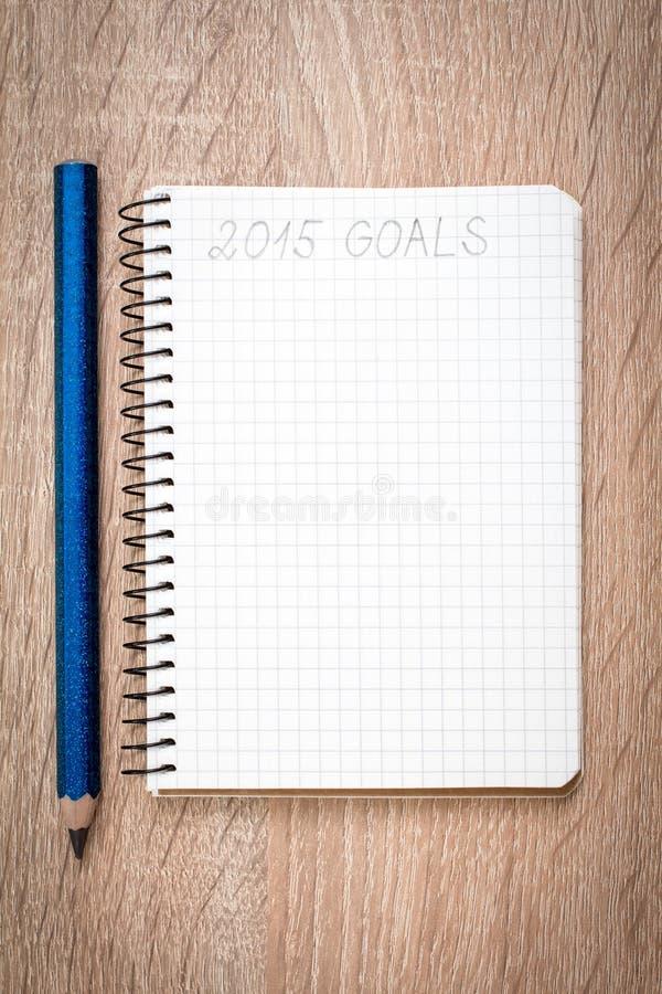 Buts de l'année 2015 images stock