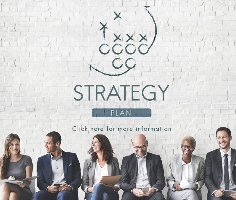 Buts de la tactique de Strategy Analytics prévoyant le concept photo libre de droits