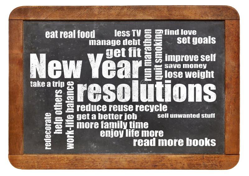 Buts ou résolutions de nouvelle année photos stock