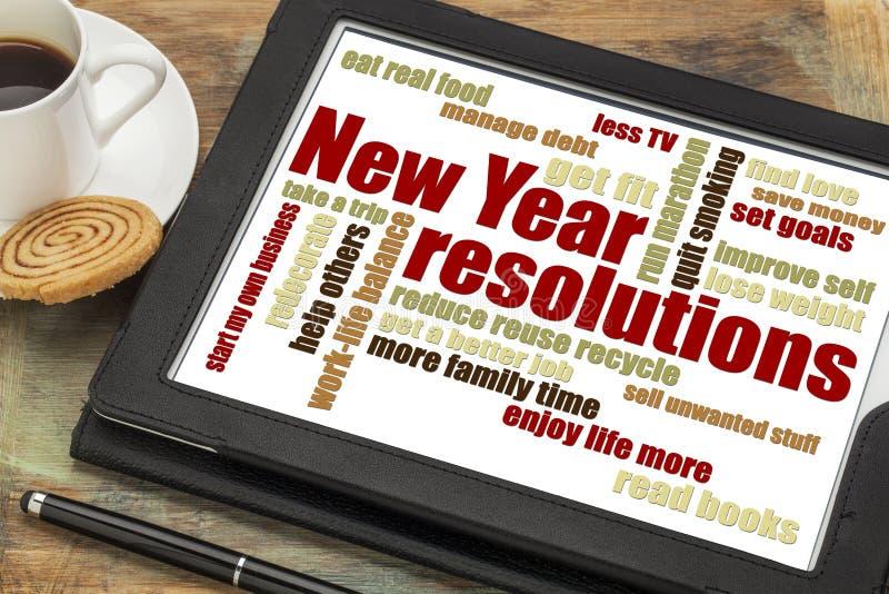 Buts ou résolutions de nouvelle année photographie stock libre de droits
