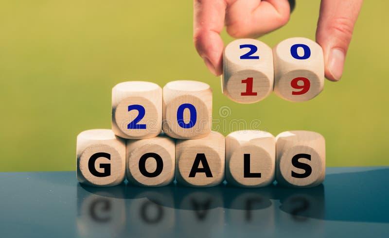 Buts pendant l'année 2020 images stock