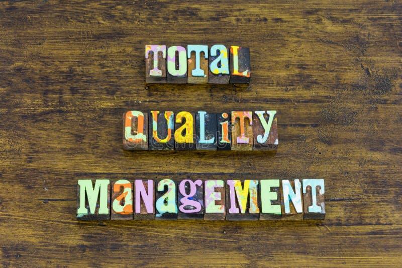 Buts totaux de plan de vision de mission d'affaires de gestion de la qualité photographie stock libre de droits