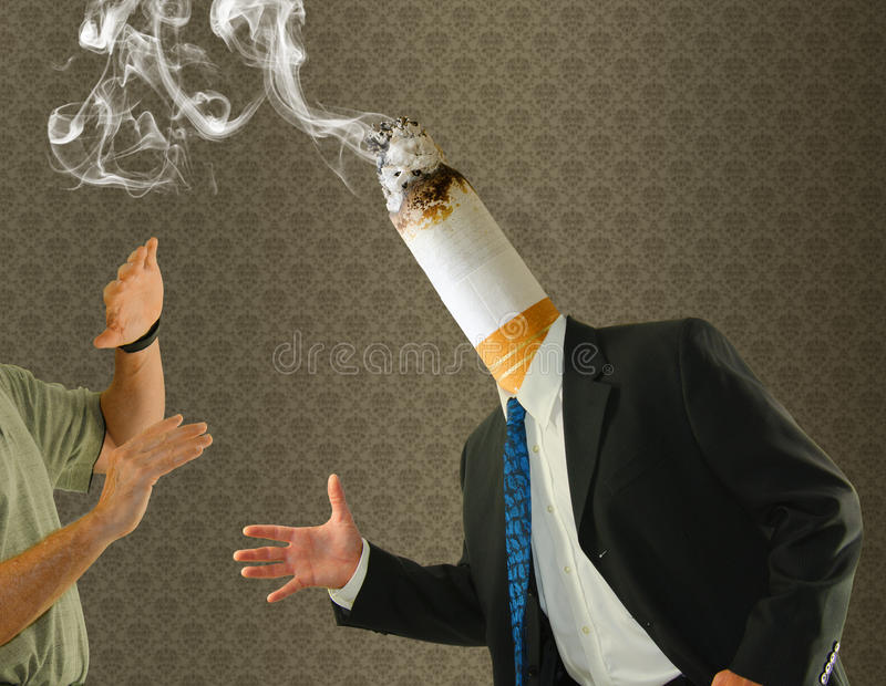 head quit cigarette smoking cessation royalty free stock photos