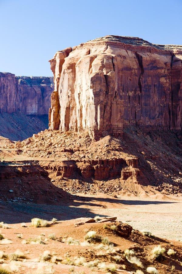 Butte d'éléphant, parc national de vallée de monument, Utah-Arizona, Etats-Unis photographie stock libre de droits