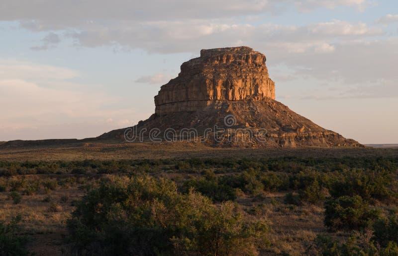 Butte di Fajada, sosta storica nazionale della coltura di Chaco immagine stock
