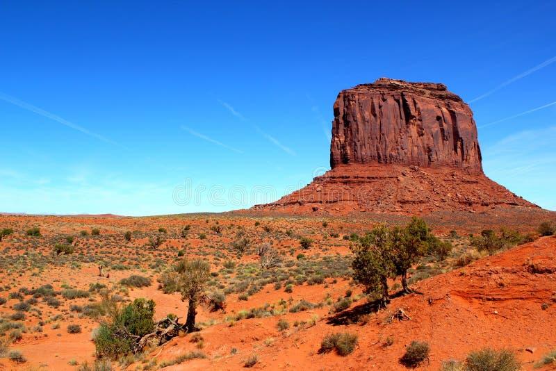 Butte Merrick в долине памятника/Юте Аризоне/США стоковое фото
