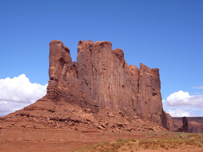 Butte in Monument Valley royalty free stock photo