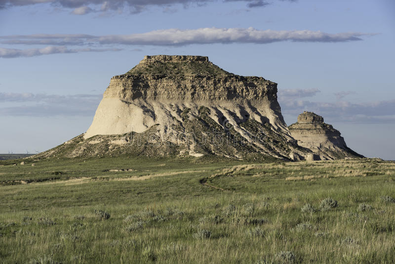 Butte occidentale de Pawnee dans le Colorado du nord-est images libres de droits