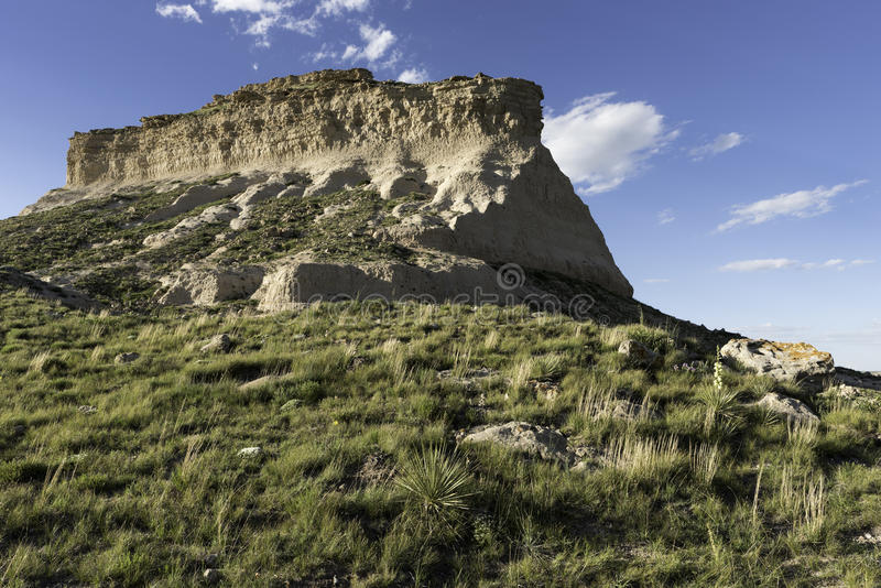 Butte occidentale de Pawnee dans le Colorado du nord-est photos stock
