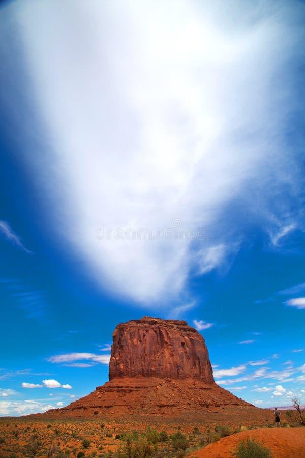 Butte på monumentdalen arkivfoto