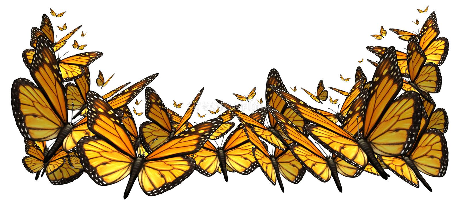Download Buttefly Border stock illustration. Image of white, butterflies - 31489952