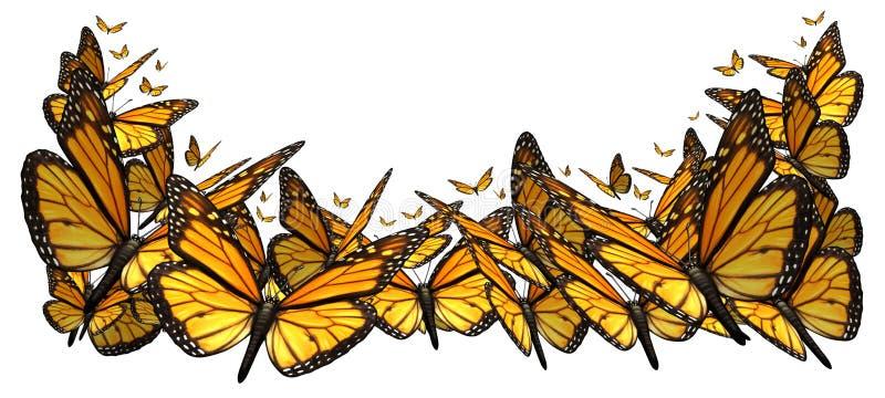 Buttefly gräns vektor illustrationer