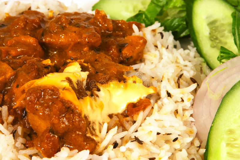 Download Butter chicken curry stock photo. Image of restaurant, rice - 248570