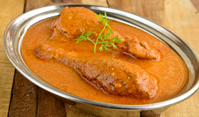 Butter Chicken Curry. Indian Dish of butter Chicken curry royalty free stock image