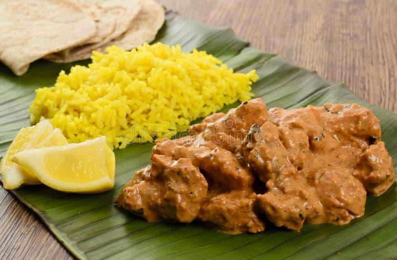 Download Butter Chicken & Lemon Rice Stock Image - Image: 28285069